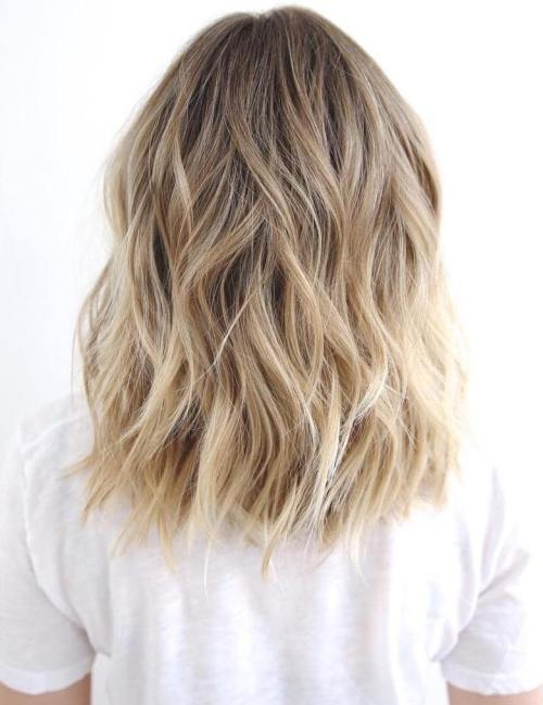 beach blonde medium shag