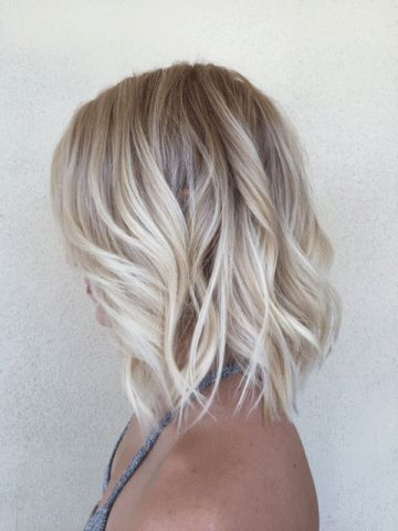 beach blonde short hair
