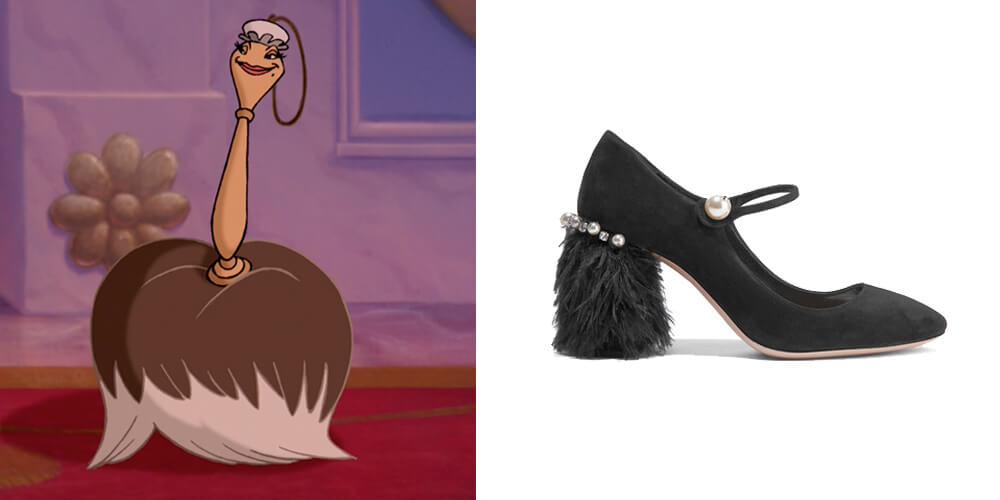 beauty and the beast miu miu shoes