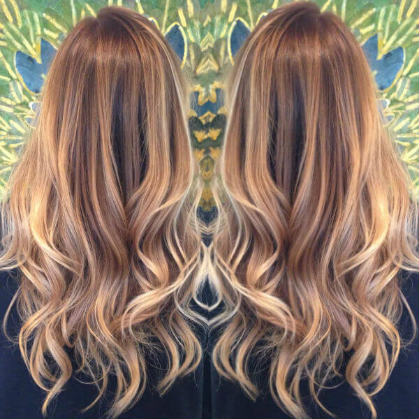 blonde highlights balayage
