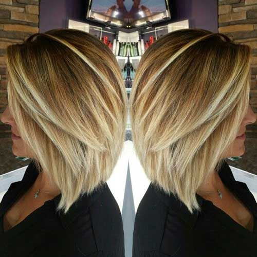 blonde highlights short hair