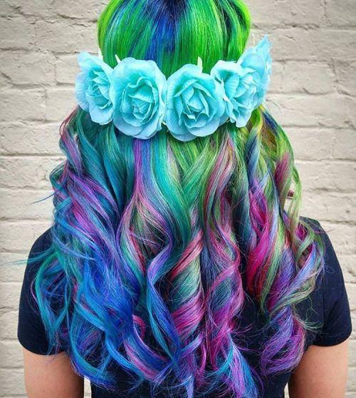 16 Rainbow Hair Color Ideas You'll Go Crazy Over