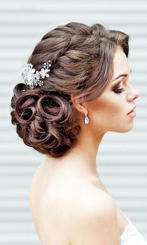 braided chignon wedding hair