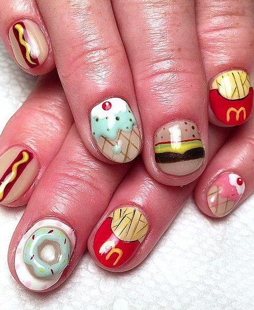 doughnut nail design