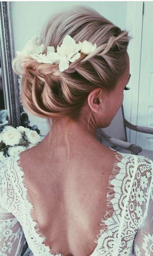 dutch braid wedding hair