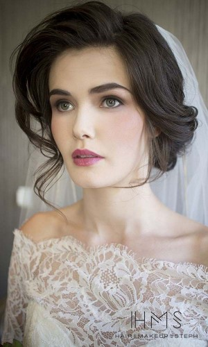 face framing wedding hair