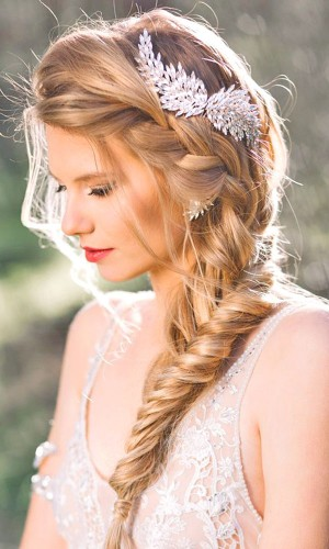 fishtail wedding hair