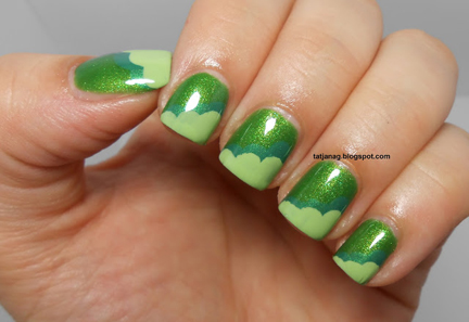 green cloud nails