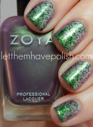 irish pattern nails