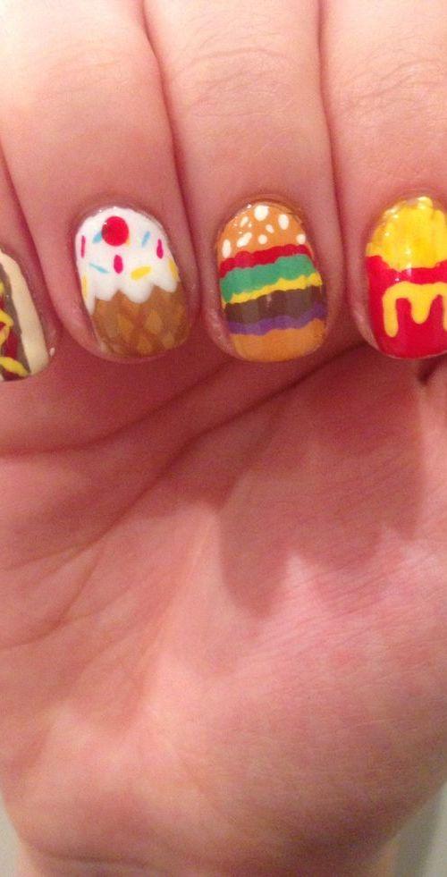 junk food nail design