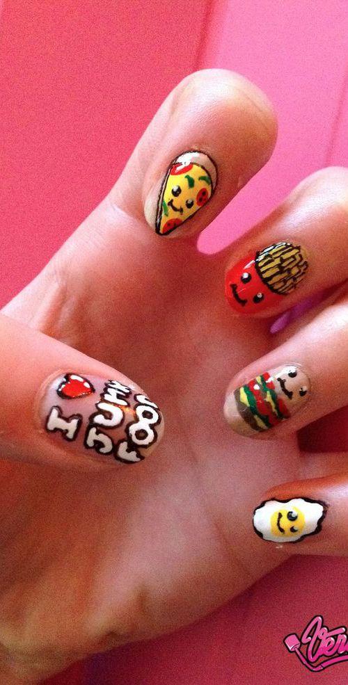 junk food nail designs