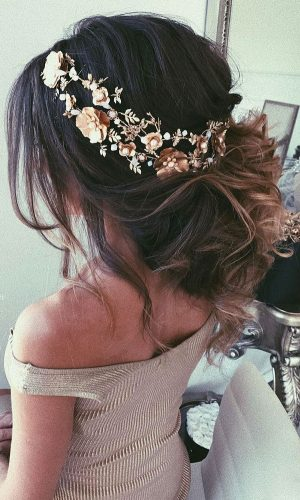 messy chignon wedding hair