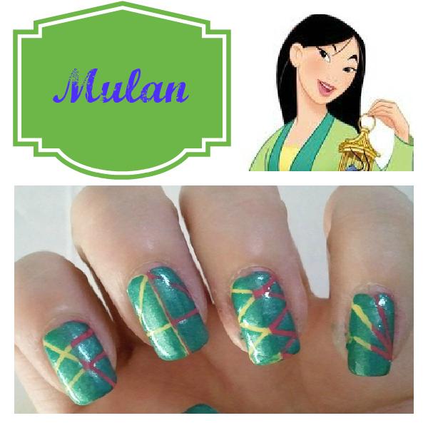 mulan nail design