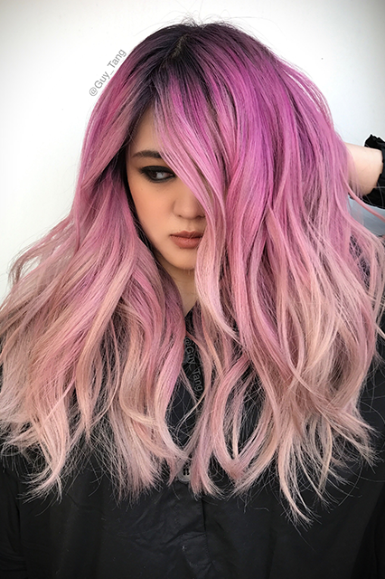 pink ombre hair color