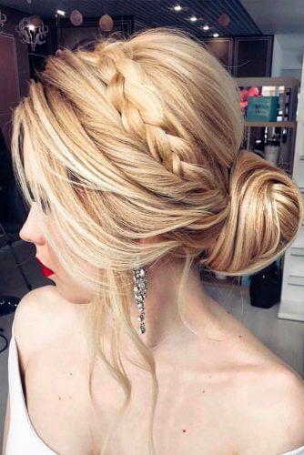 prom bun hairstyle