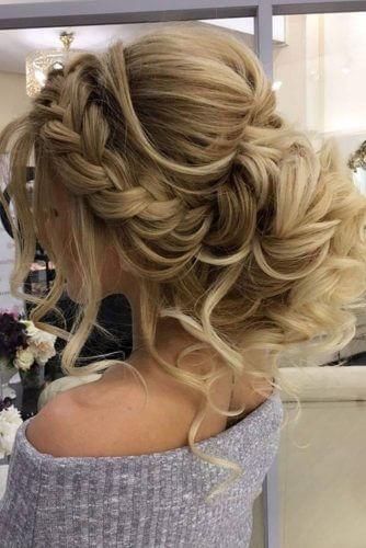 prom bun with braids