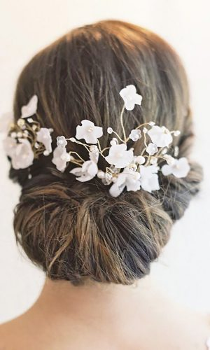 small flowers wedding hair