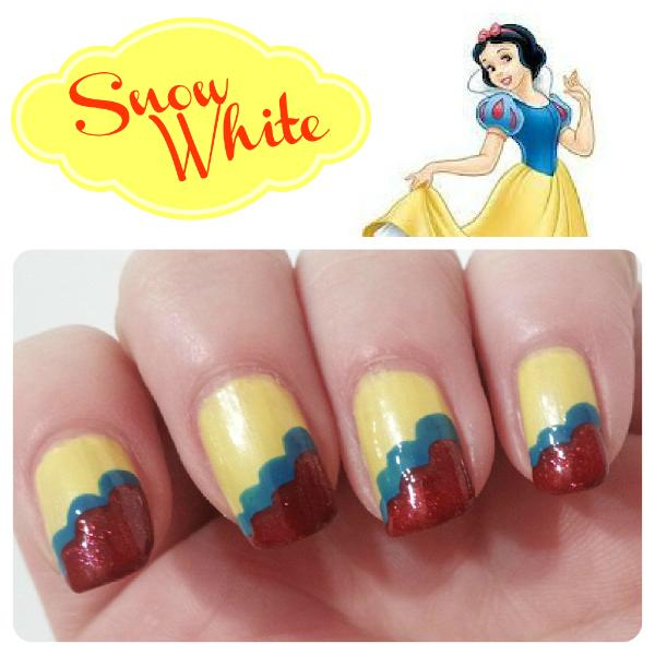 snow white nail design
