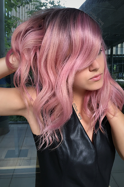 soft pink hair color