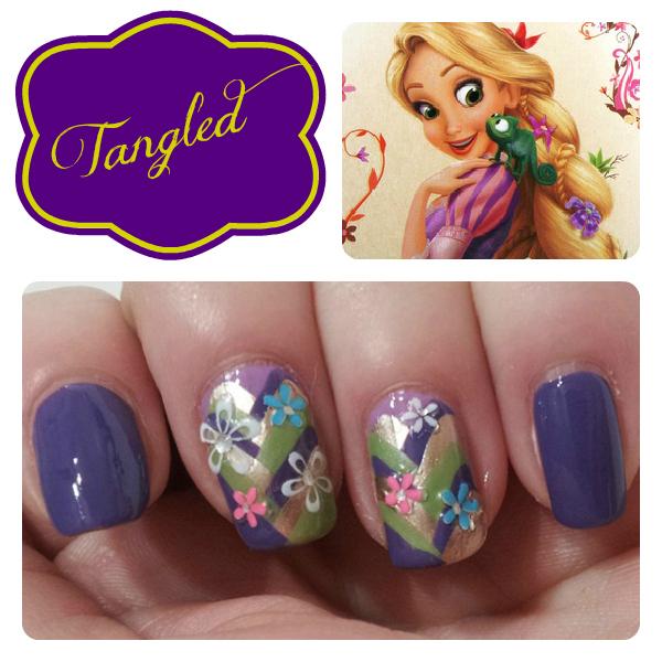 tangled nail design