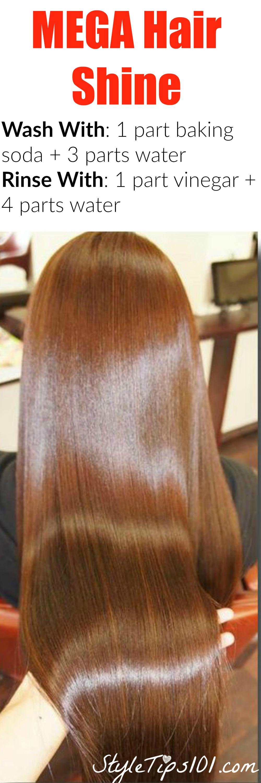 Baking Soda and Vinegar Hair Wash