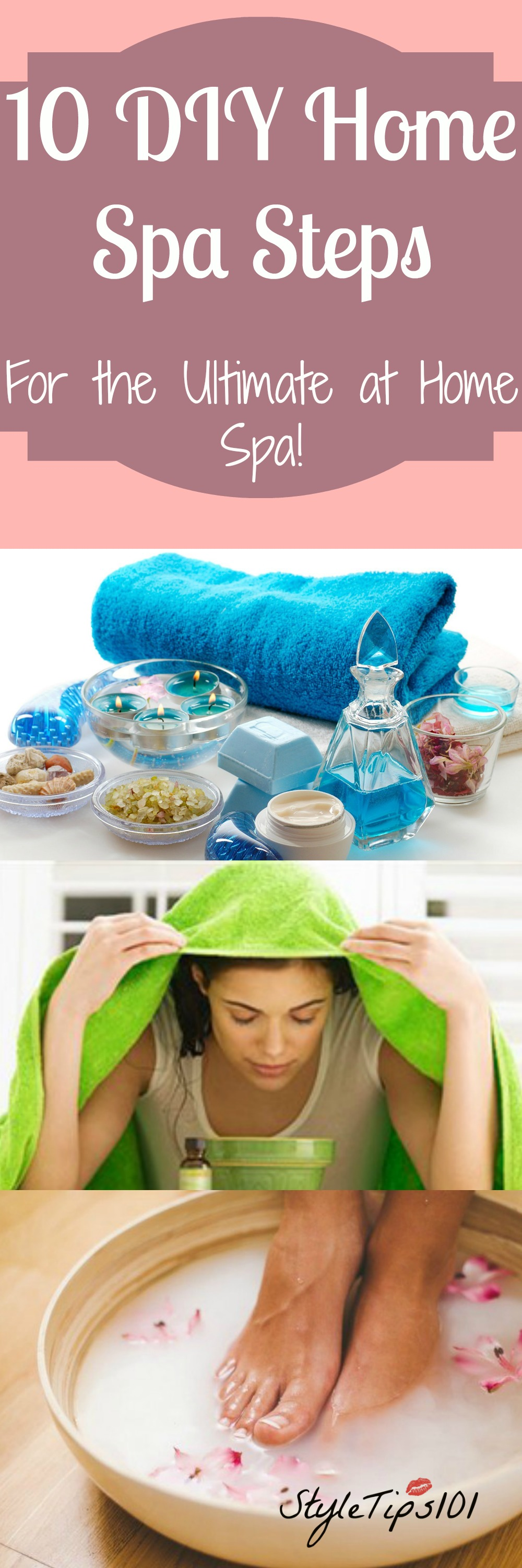 10 diy home spa tips for the ultimate spa day for How to make a spa at home