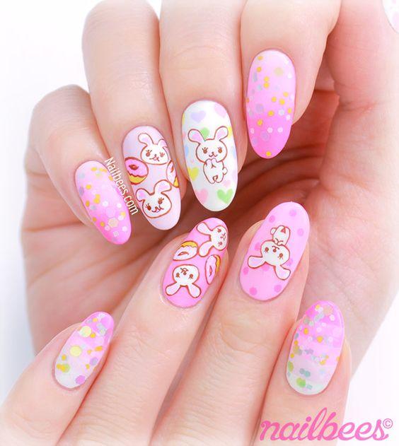 animated bunny nails