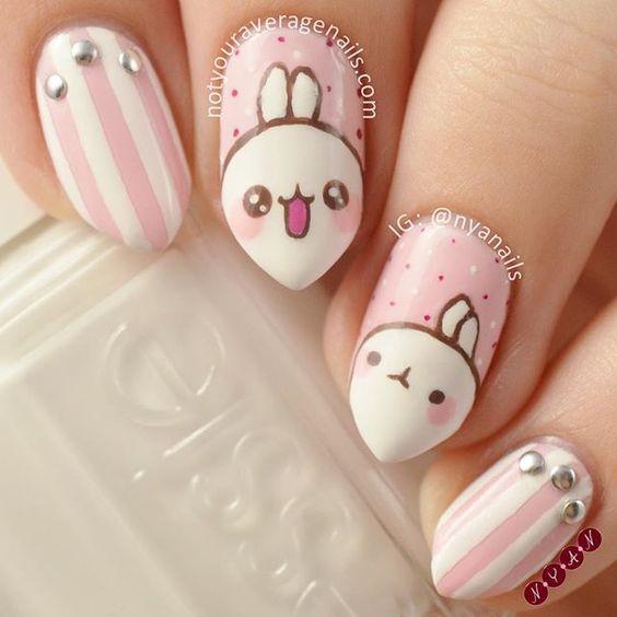 bunny tips nails