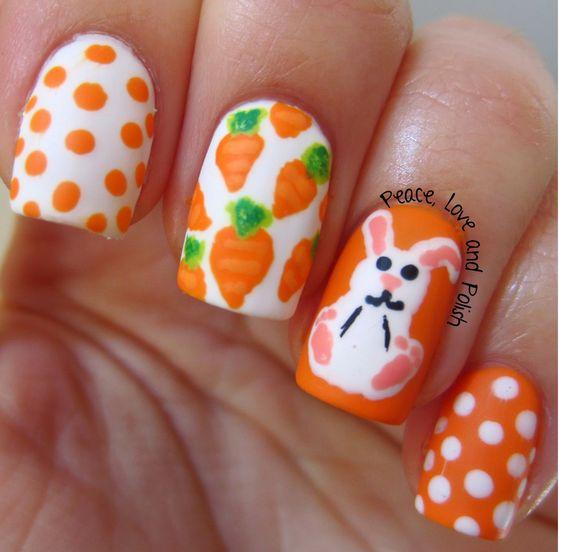 carrot bunny nails