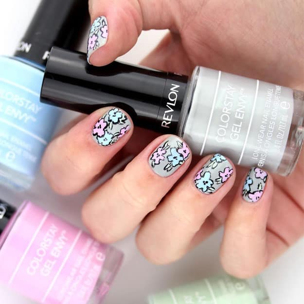 cartoon flower nails