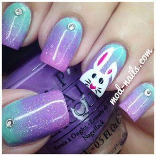 galaxy bunny nails