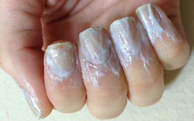 toothpaste on nails