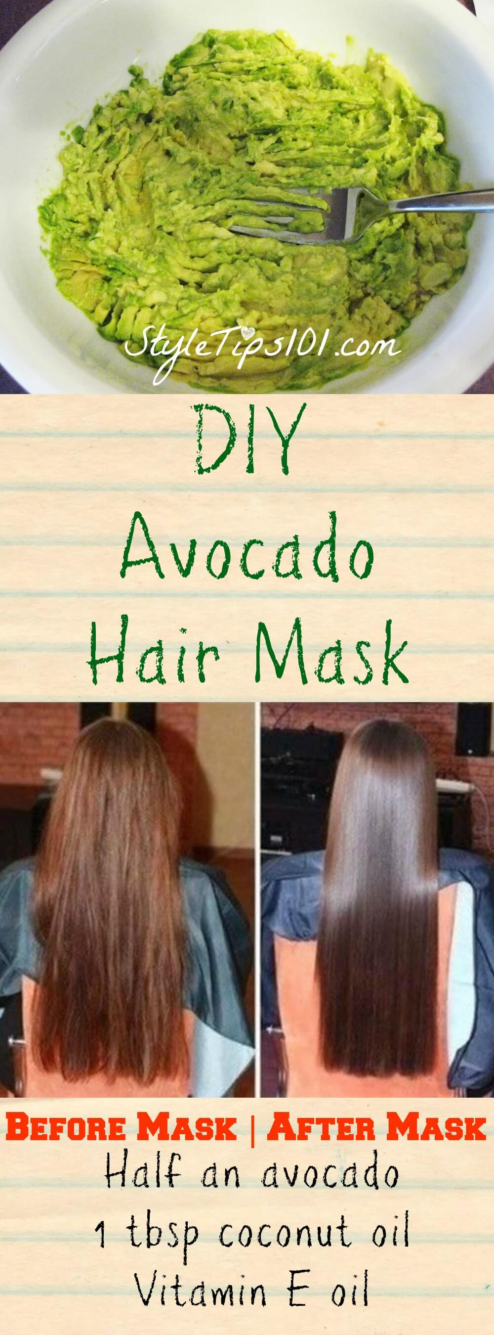 Diy Avocado Hair Mask For Dry Hair