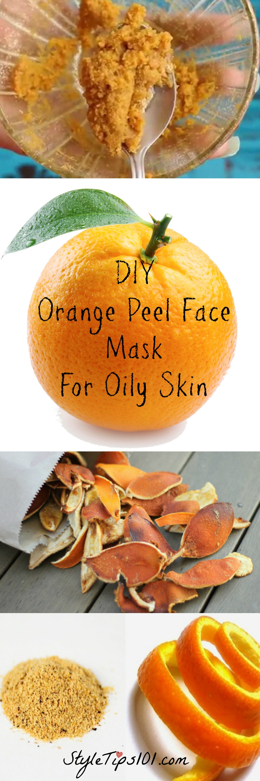DIY Orange Peel Face Mask