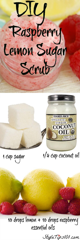DIY Raspberry Lemon Sugar Scrub
