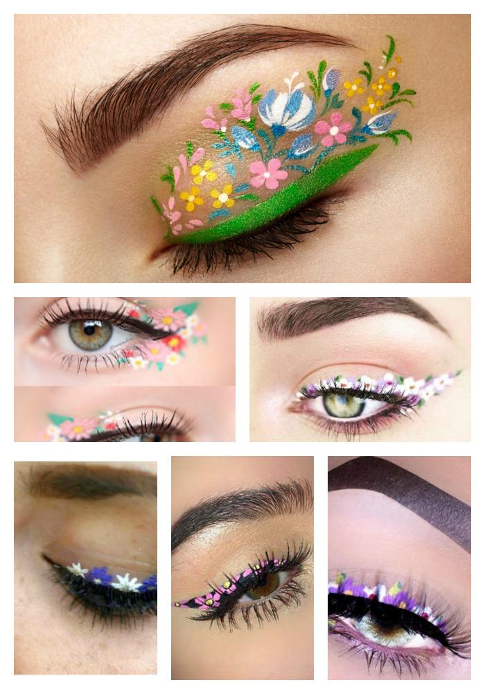 Floral Eyeliner Ideas