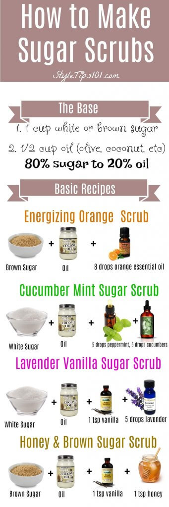 How to Make Sugar Scrubs at Home