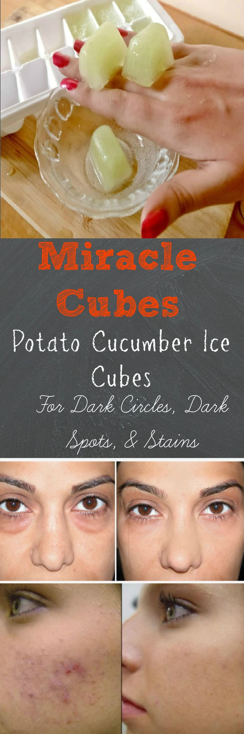 Potato Cucumber Ice Cubes