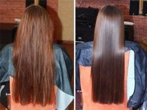 before and after hair mask