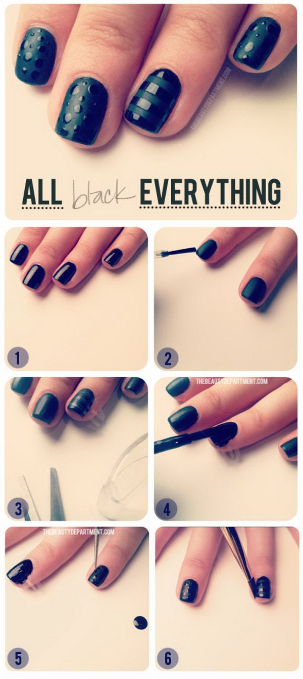 black nail tutorial