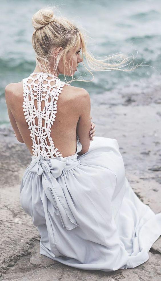 bridal boho dress