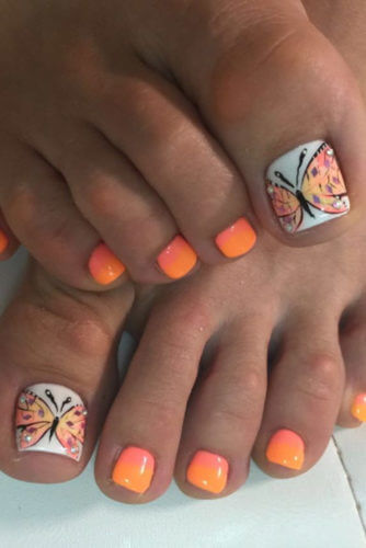 Erfly Toe Nail Design