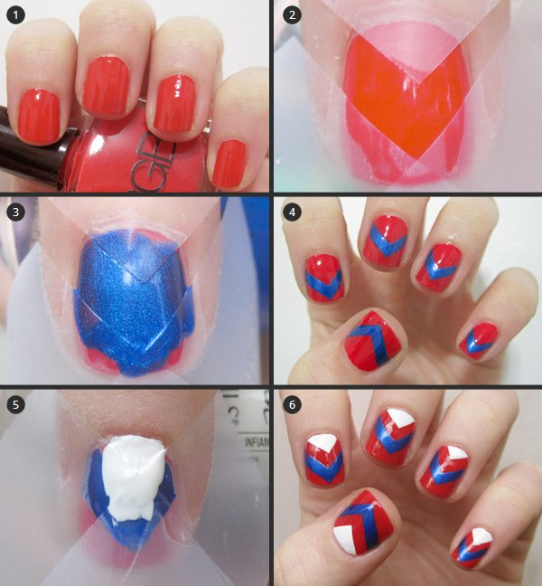 chevron nail tutorial