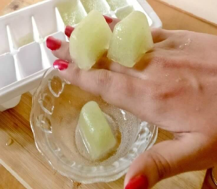 Potato Cucumber Ice Cubes For Dark Spots