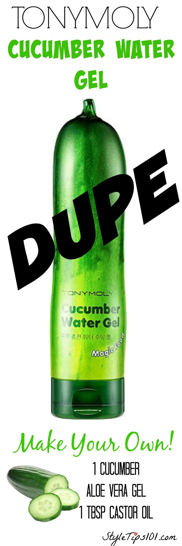 diy cucumber water gel