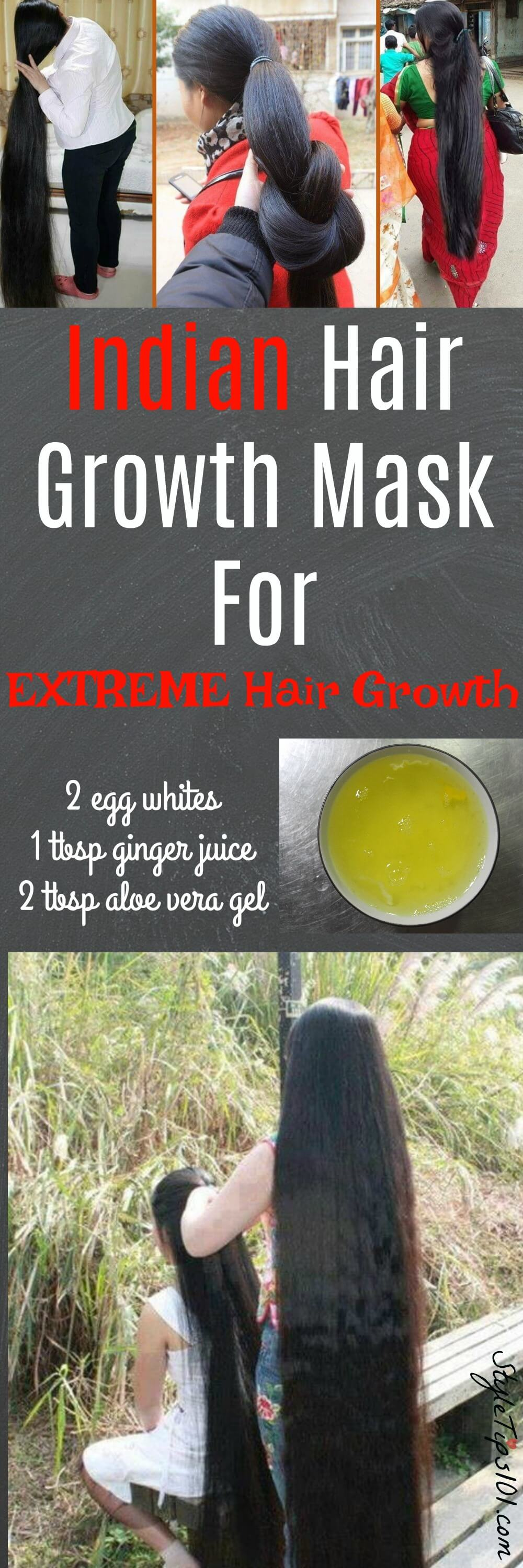 Use this DIY egg mask for hair growth 2-3 times a week for super shiny, healthy, and faster growing hair. Enriched with ginger juice and aloe vera gel. #hairgrowth #diybeauty