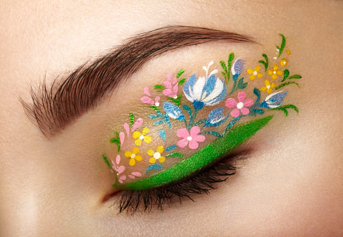 Floral Eyeliner is the Newest Makeup Trend You'll Be Obsessed With