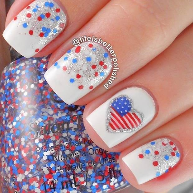 fourth of july nails 1