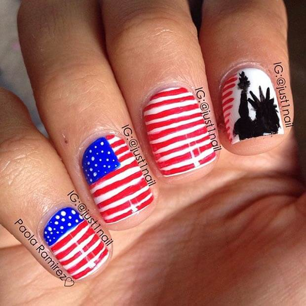 fourth of july nails 11
