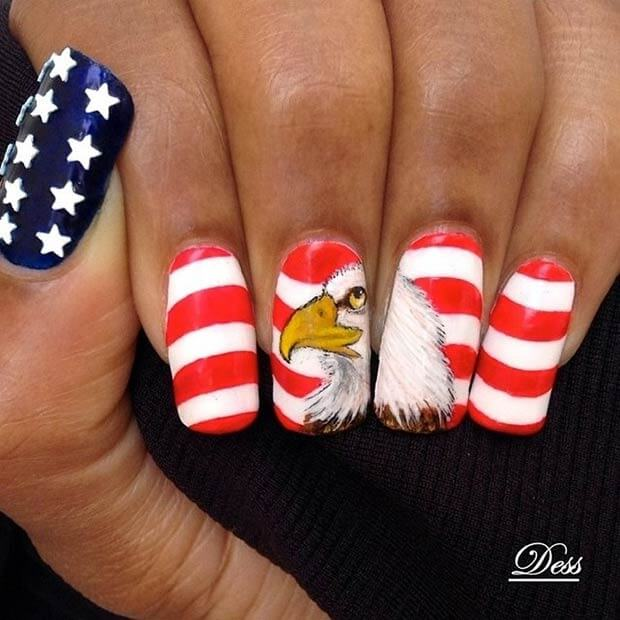 fourth of july nails 12